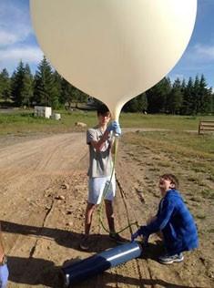 Zachary Horvitz and Spencer Laube preparing to launch