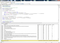 Screenshot of a SQL Query of Pullman Text Database