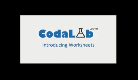 CodaLab: Introduction to Worksheets