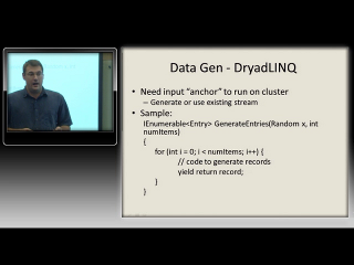 Dennis Fetterly – Creating data on a cluster