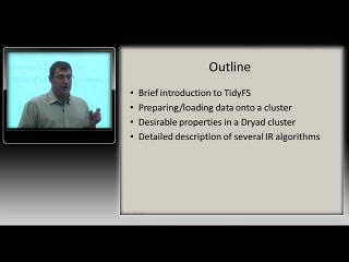 Dennis Fetterly – Large-scale data processing using DryadLINQ