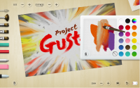 Project Gustav user interface with palette open