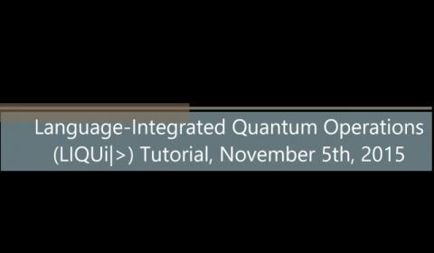 Language-Integrated Quantum Operations (LIQUi|>) Tutorial