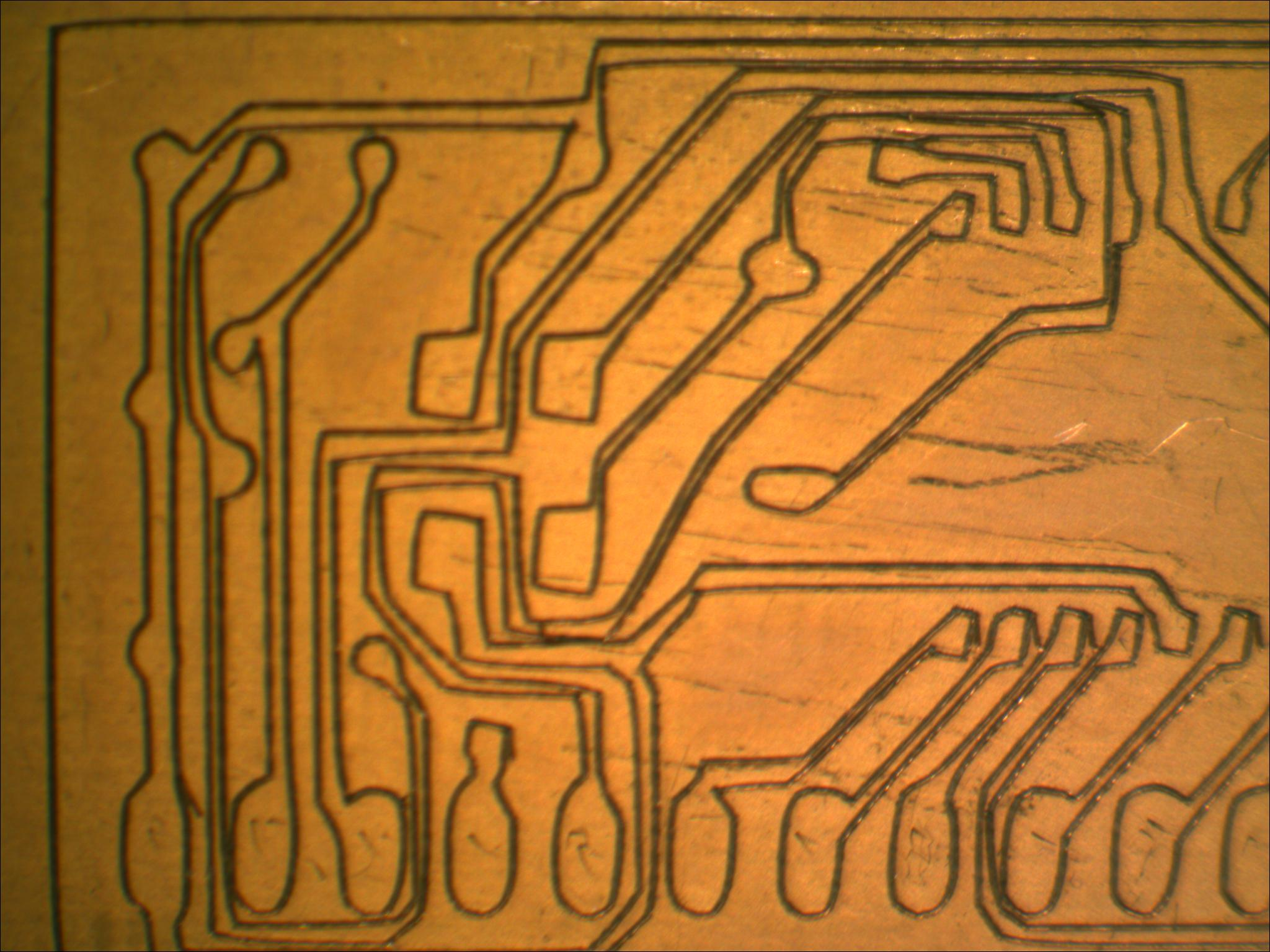 Quick Printed Circuit Boards Microsoft Research Photo Resist Method Of Etching A Board Youtube I Believe This Is Result Combination The Trace Function In Paper Cutter Software Incomplete Compensation Or