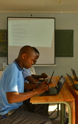 Students in rural South Africa are connecting online to learn for the first time. (image credit: Moeketsi Moticoe)