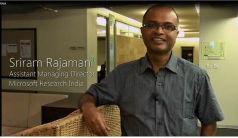 Sriram Rajamani: Assistant Director MSRI, talks about Microsoft Research Fellow Program