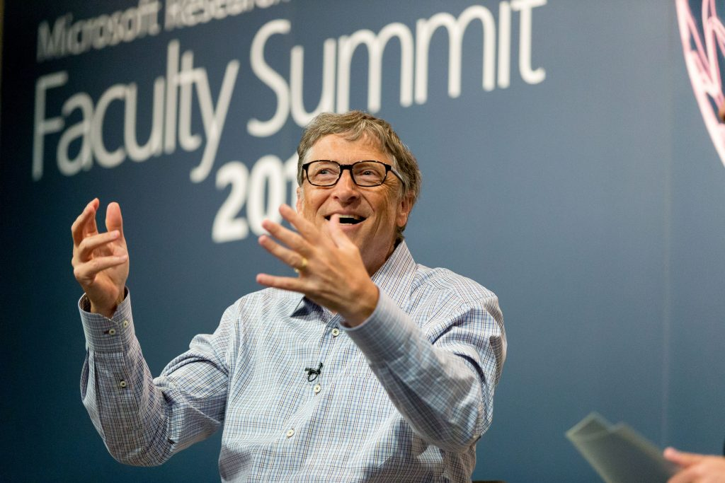 Bill Gates talks about Future Visions during a fireside chat