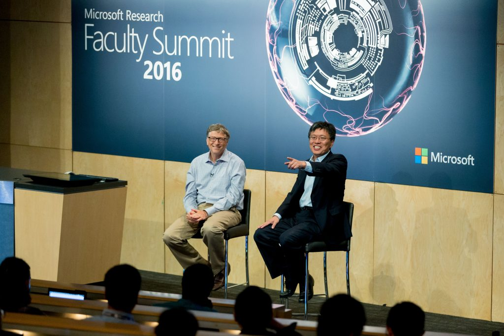 Harry Shum & Bill Gates talk about Future Visions during a fireside chat