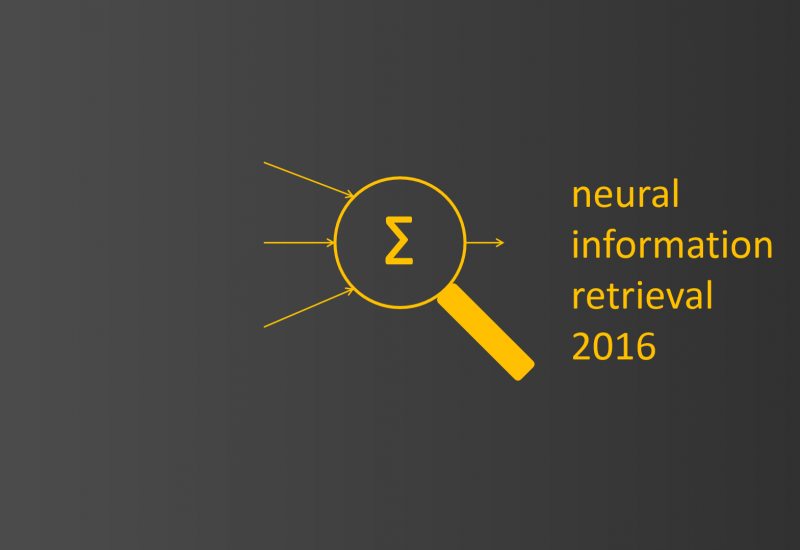 Neu-IR: The SIGIR 2016 Workshop on Neural Information Retrieval