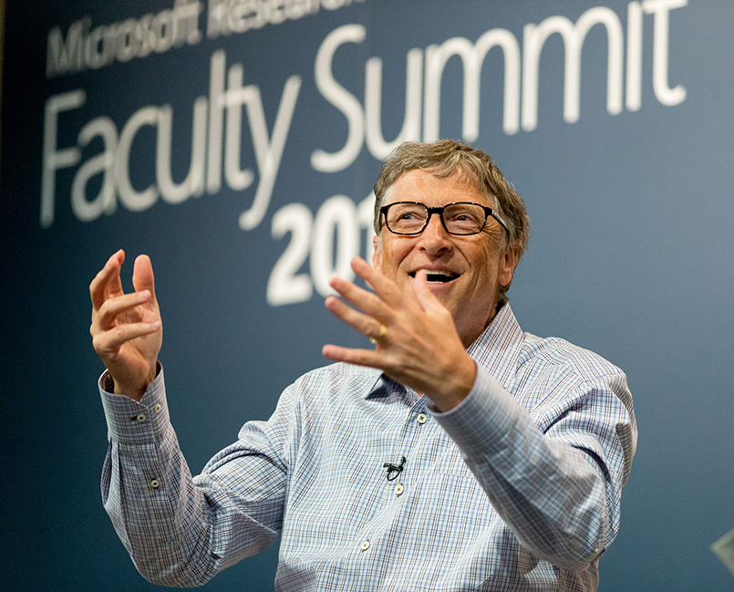 Bill Gates at the 2016 Microsoft Research Faculty Summit