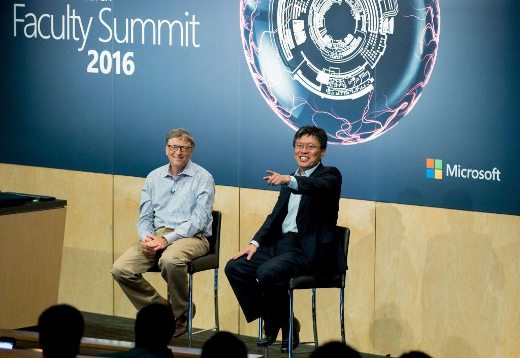 Harry Shum & Bill Gates at Faculty Summit 2016