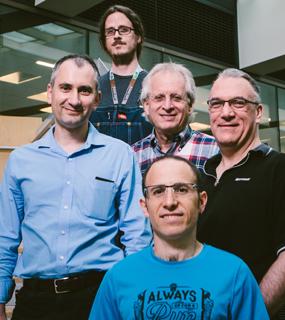 Project Orleans team - Top: Michael Roberts; Middle, left to right: Sergey Bykov, Phil Bernstein, Jorgen Thelin; Bottom: Gabriel Kliot