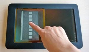 electrostatic haptics prototype
