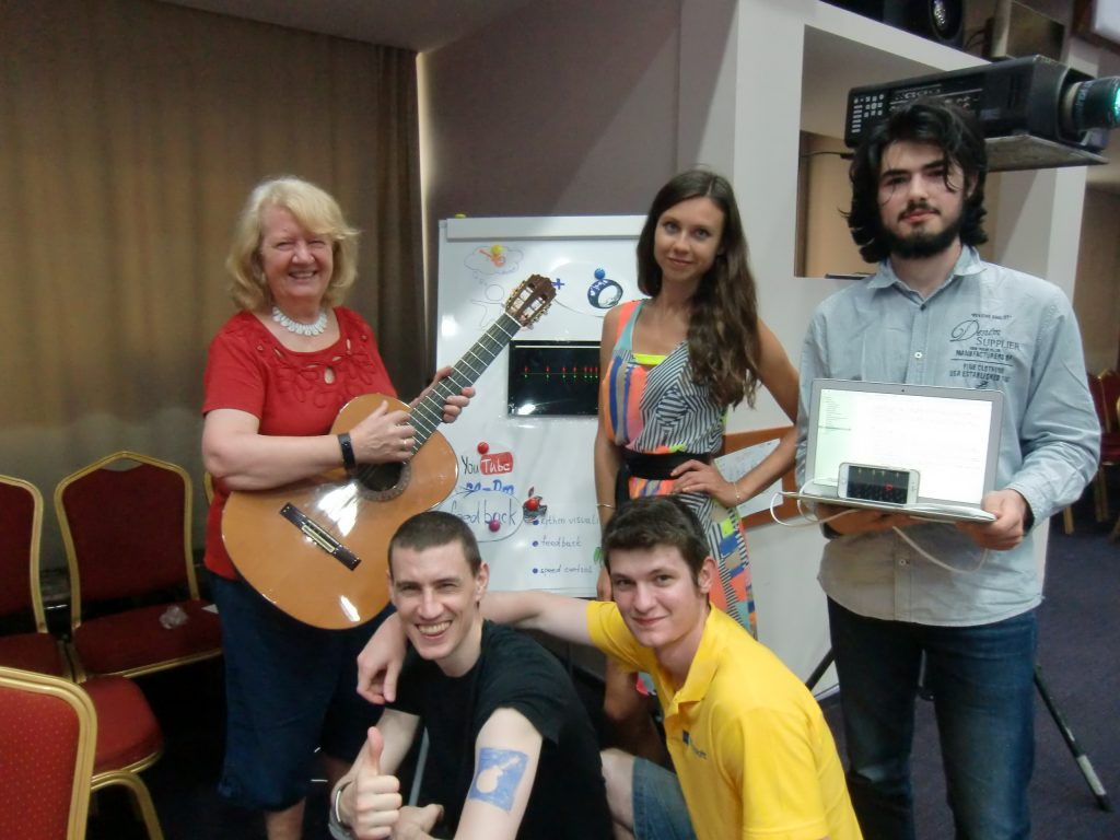 Learn to Play a Guitar group at Microsoft Research Summer School