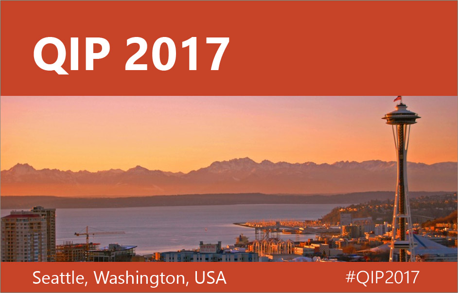 QIP 2017 Seattle Washington
