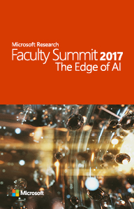 2017 Faculty Summit Agenda