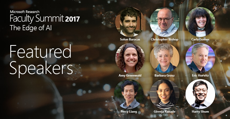 Faculty Summit 2017: The Edge of AI