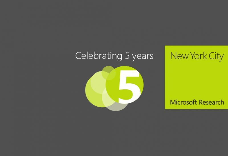Microsoft Research New York City 5th Anniversary Celebration