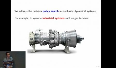 Learning and Policy Search in Stochastic Dynamical Systems with Bayesian Neural Networks