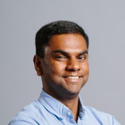 Portrait of Adith Swaminathan from Microsoft and speaker at the Microsoft Research AI and Gaming Research Summit