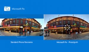 Microsoft Pix before and after panoramic photo of Miners Landing