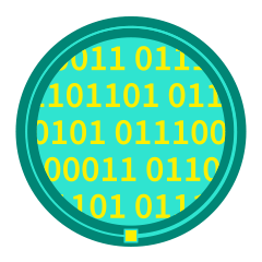 icon of binary code