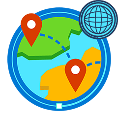 icon of travel map
