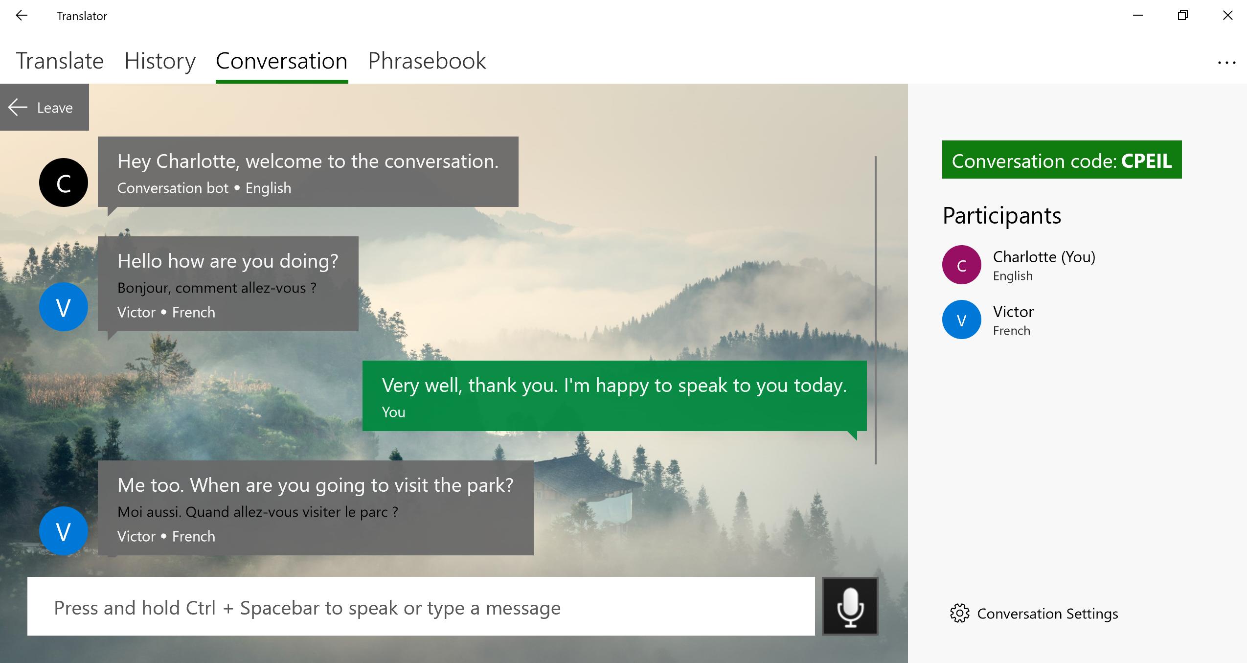 Discover the new Microsoft Translator Windows 10 app