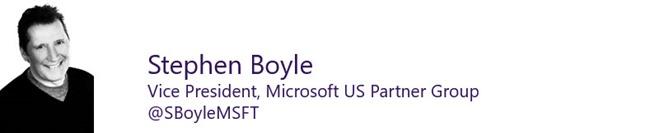 Stephen Boyle, Vice President, Microsoft US Partner Group