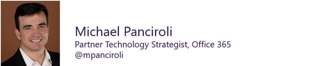 Michael Panciroli Office 365 expert