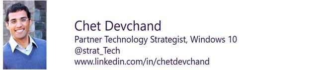 Chet Devchand - Windows Technology Solutions Professional