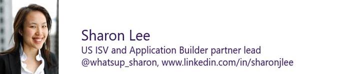 Sharon Lee - US ISV and App Builder Community Lead