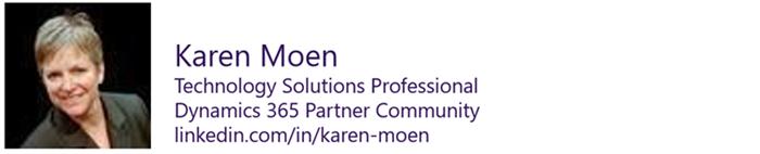 Karen Moen - Technology Solutions Provider, Dynamics 365