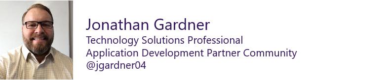 Jonathan Gardner, Technology Solutions Professional, Application Development