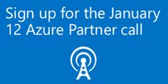 Azure Partner Community call on January 12