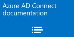 Azure AD Connect documentation