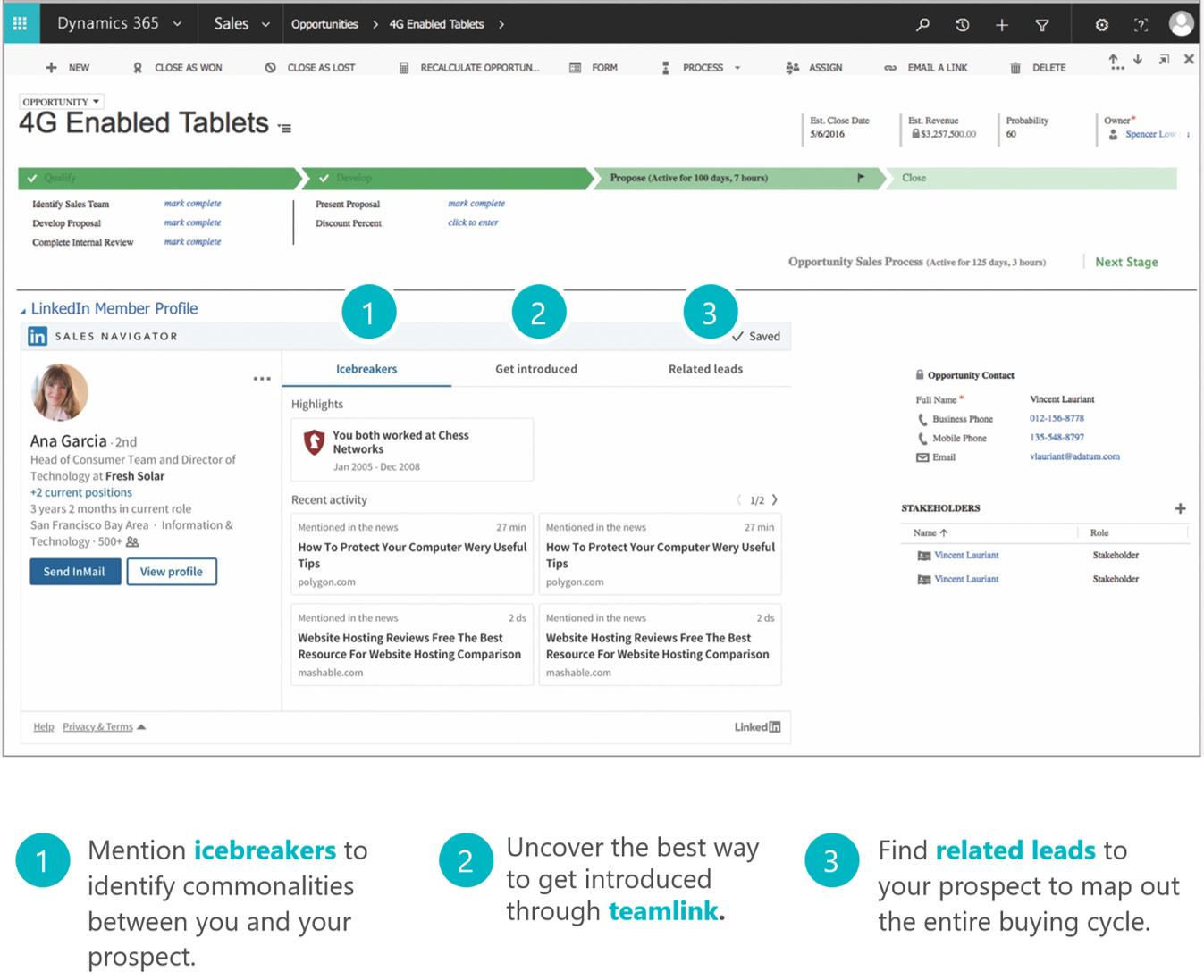 Embedded company info