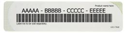Product key label