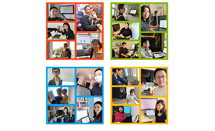 Image for: Microsoft employees working remotely.