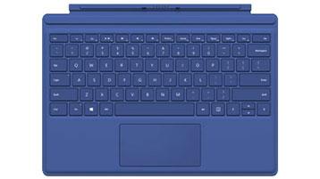 Funda con teclado para Surface Pro 4 (azul)