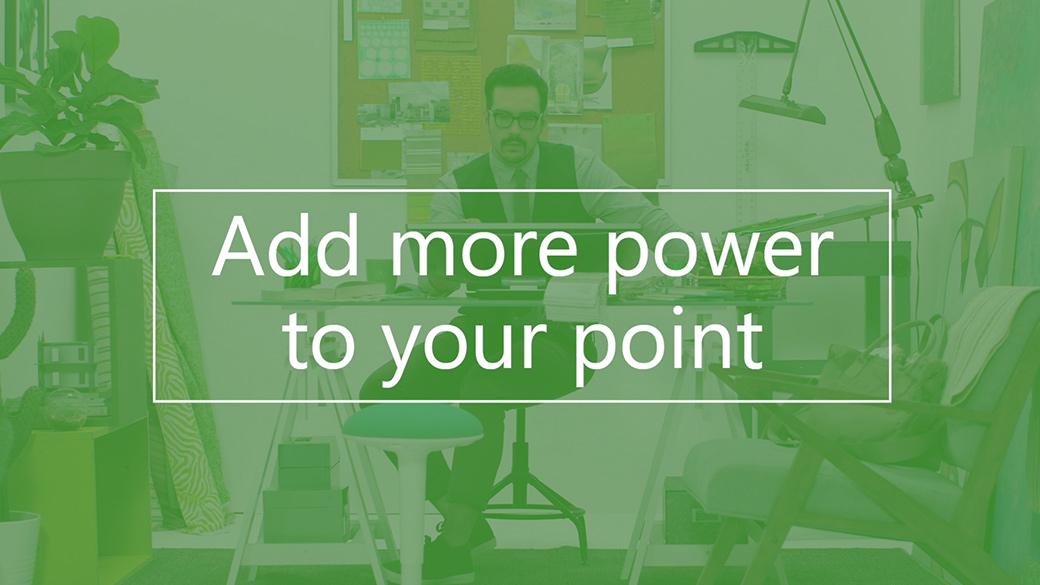 PC con una animación en 3D en PowerPoint