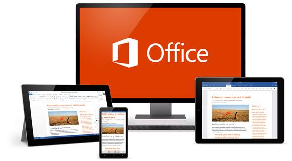 Office en diferentes dispositivos