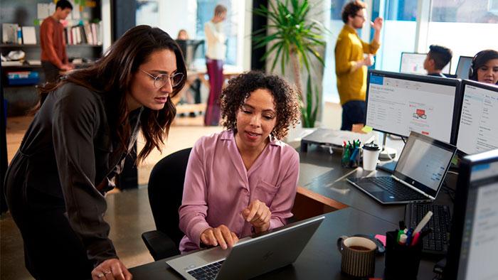 Women Working in a laptop