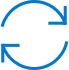 Icono de dos flechas en semicírculo