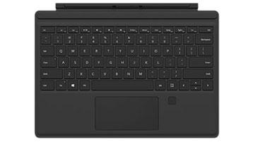 Sormenjälkilukijalla varustettu Surface Pro 4 Type Cover