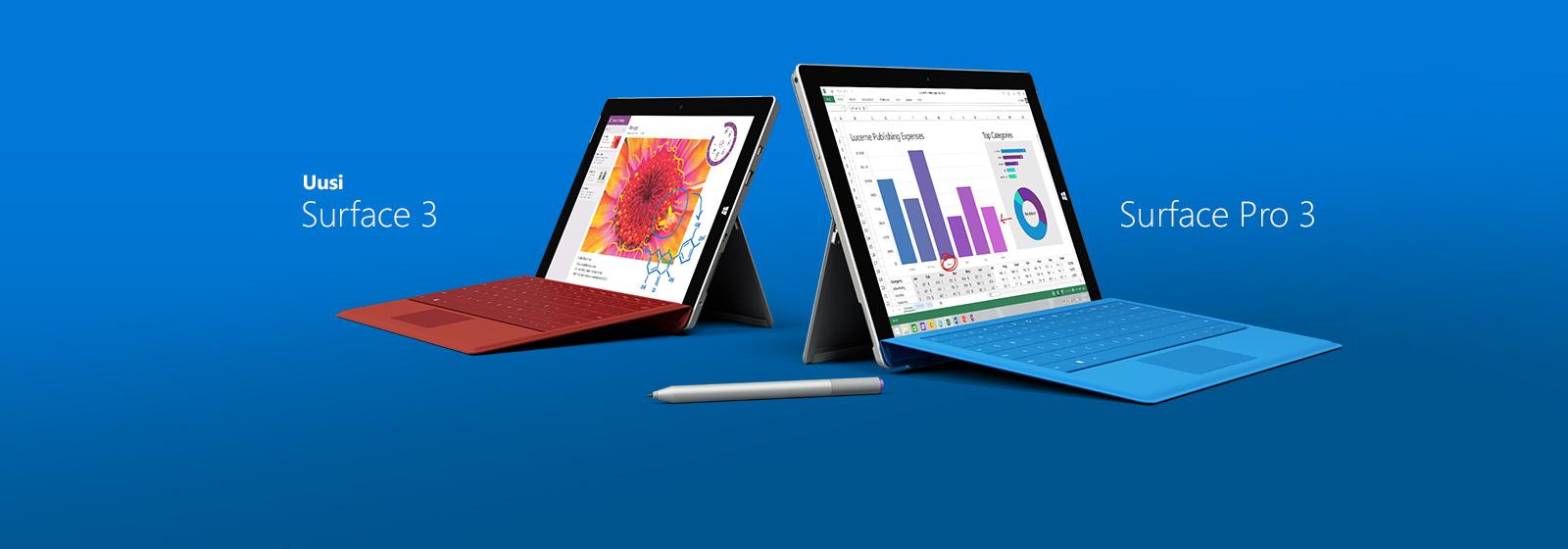 Surface-mallistosta löytyy jokaiselle oikea laite. Osta nyt.