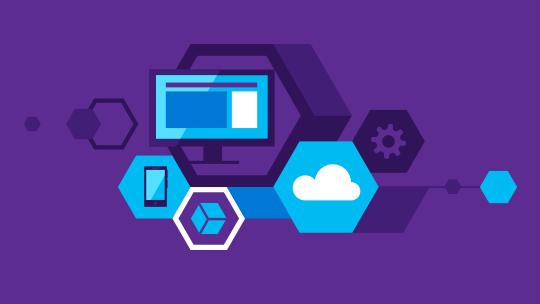 Teknologioita esittäviä kuvakkeita, lataa Visual Studio 2015
