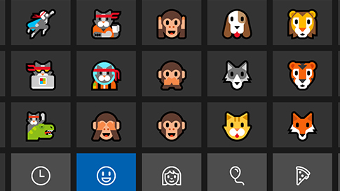 Windows 10:n emoji-näppäimistö