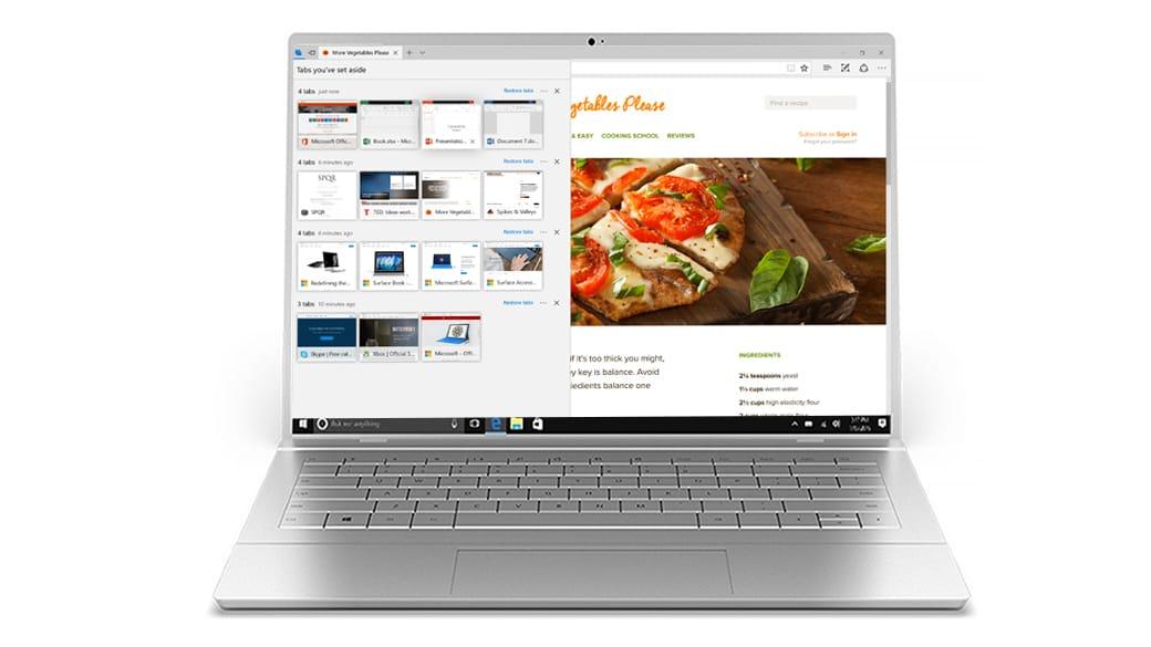 Microsoft Edgen välilehtityönkulku