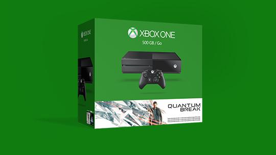 Un pack Quantum Break Xbox One emballé.